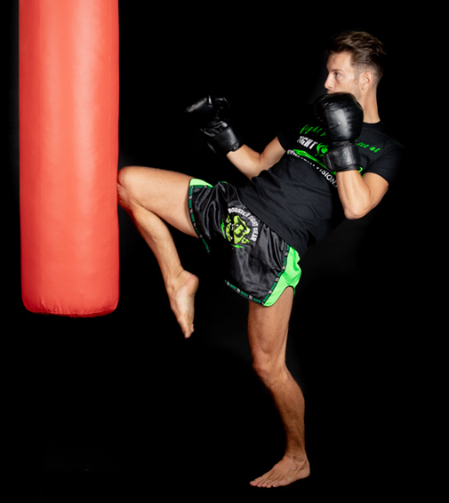 Punchbag fun in Fight Vision Sittard